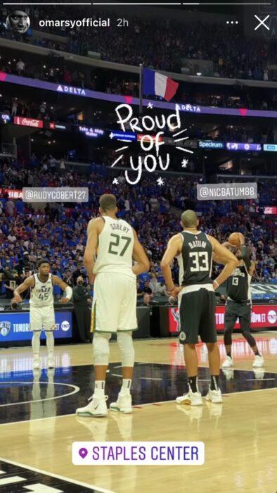 NBA Le message d'Omar Sy pour Gobert et Batum)