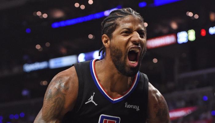 La superstar NBA des Los Angeles Clippers, Paul George, célèbre sa série historique en playoffs, digne de Michael Jordan, Kobe Bryant et Kevin Durant par le passé