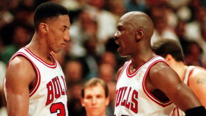 Scottie Pippen et Michael Jordan