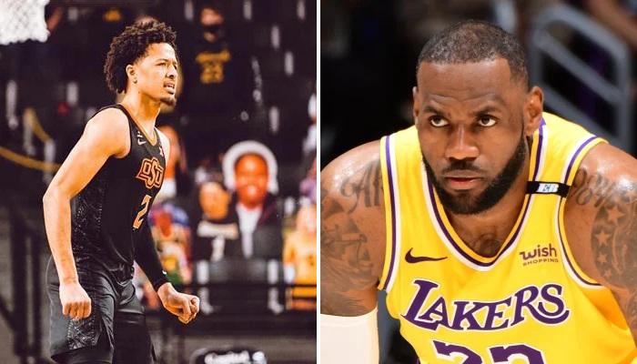NBA Cade Cunningham s'adresse au King