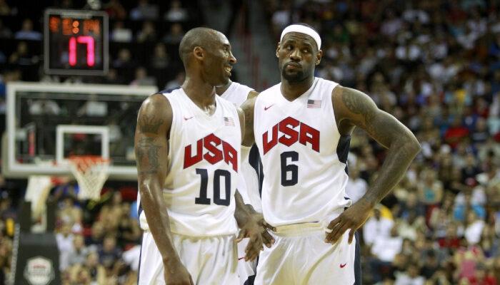 NBA LeBron et Kobe avec Team USA