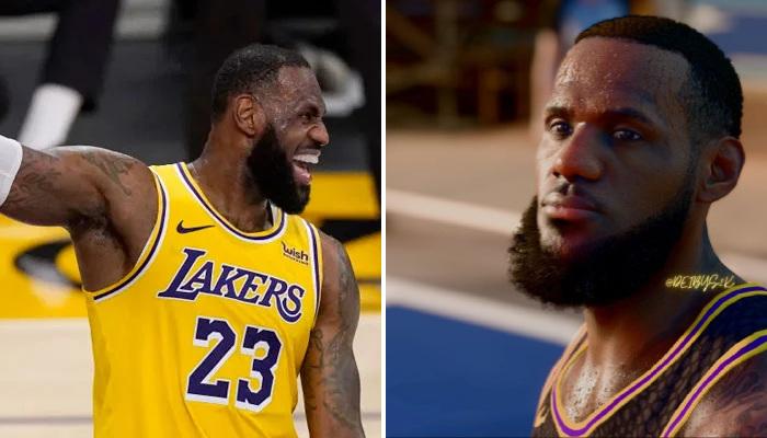 NBA LeBron sur NBA2K