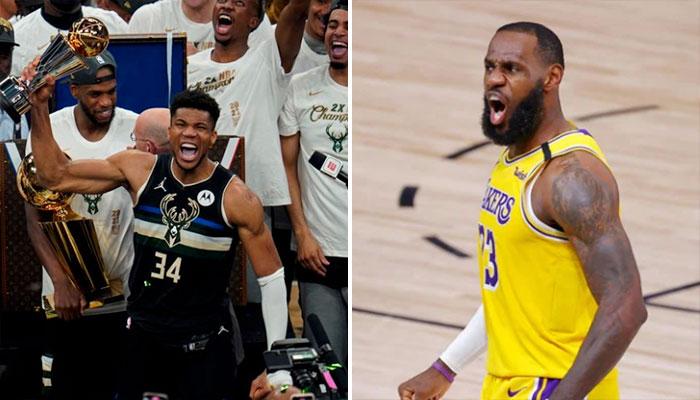 La géniale réaction de LeBron au premier titre de Giannis NBA