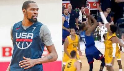 NBA – Kevin Durant encore moqué après un vilain contre chez Team USA !