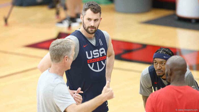 Kevin Love avec Steve Kerr à Team USA