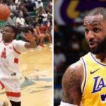 NBA – Bronny claque le même dunk que LeBron 20 ans après au même endroit !