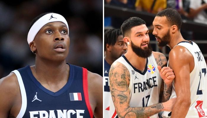 Les intérieurs de l'équipe de France de basket, Vincent Poirier et Rudy Gobert, ont adressé des messages à leur coéquipier chez les Bleus et meneur NBA des New York Knicks, Frank Ntlikina