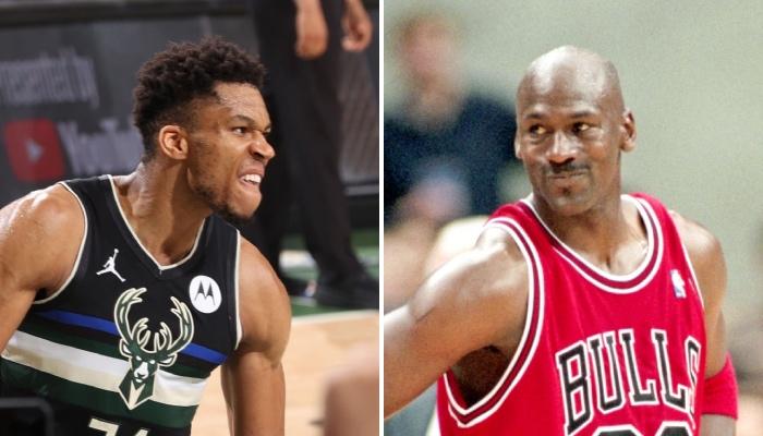 La superstar des Milwaukee Bucks, Giannis Antetokounmpo, a signé du jamais vu dans l'histoire des Finales NBA, tout en égalant une performance simplement réalisé par la légende des Chicago Bulls, Michael Jordan, par le passé