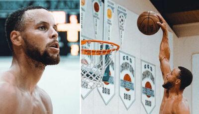 NBA – Steph Curry s'affiche ultra affûté à la salle et choque les fans !