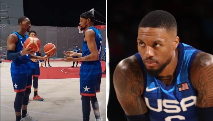 La superstar NBA des Portland Trail Blazers, Damian Lillard, a réagi sur Twitter à l'échange musclé entre Kevin Durant et Bam Adebayo, coéquipiers sous les couleurs de Team USA