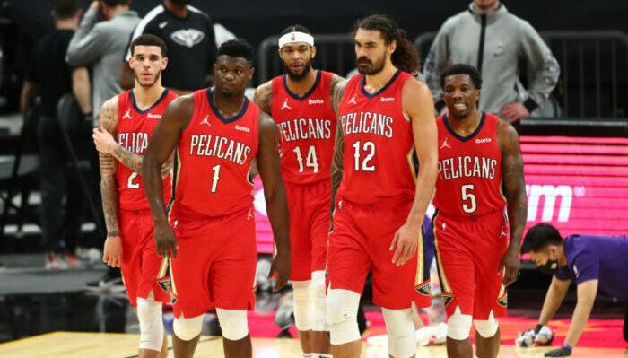 Zion Williamson, Steven Adams, Brandon Ingram, Lonzo Ball et les Pelicans