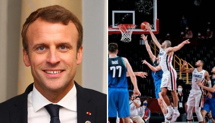 Emmanuel Macron a félicité Nicolas Batum pour son contre