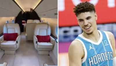 NBA – Les images virales de l'avion privé de LaMelo Ball