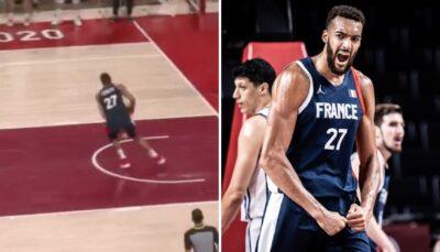 NBA/JO – Rudy Gobert pose un 360° douteux à l'ultime seconde, internet s'enflamme !
