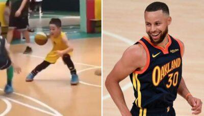 NBA – Les images virales d'un jeune fan de Steph Curry, qui joue exactement comme lui !