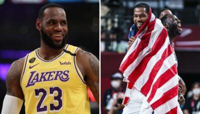 NBA/JO – Le génial hommage des joueurs de Team USA à LeBron après le titre olympique !