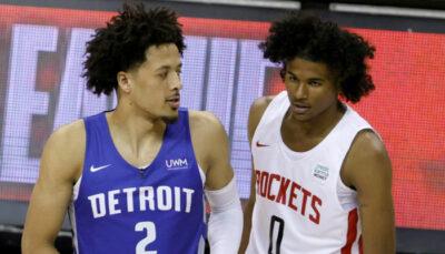 NBA – Cade Cunningham et Jalen Green se livrent un magnifique duel jusqu'au bout !