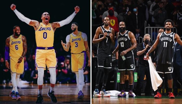 Le Big 3 des Lakers, composé de LeBron James, Russell Westbrook et Anthony Davis, trouvera plus facilement des automatismes que celui des Brooklyn Nets, formé par Kevin Durant, James Harden et Kyrie Irving, selon un ancien champion NBA