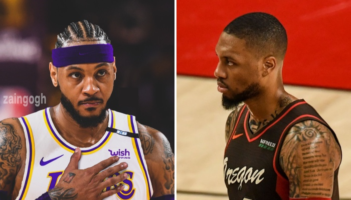 L'ailier NBA des Los Angeles Lakers, Carmelo Anthony, a livré des propos forts sur son ancien coéquipier aux Portland Trail Blazers, Damian Lillard