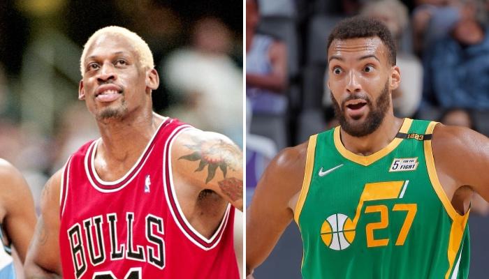 La légende NBA des Chicago Bulls, Dennis Rodman, a récemment fait l'objet d'un rapprochement avec le pivot français du Utah Jazz, Rudy Gobert, qui fait des deux hommes des superstars