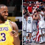 NBA/JO – La blague de LeBron après l'hommage des joueurs de Team USA