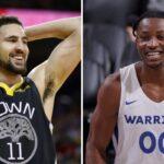 NBA – Le rookie star des Warriors claque un move dingue et met Klay en ébullition !