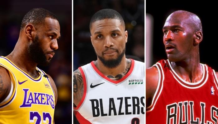 La superstar NBA des Portland Trail Blazers, Damian Lillard, a tranché dans le débat du GOAT opposant LeBron James à Michael Jordan