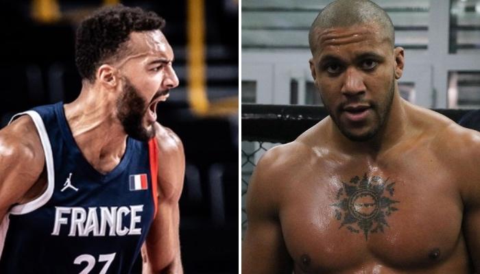 La stra NBA du Utah Jazz, Rudy Gobert, ici sous les couleurs de l'équipe de France, a adressé un message suite à la ceinture UFC des poids lourds obtenue par son compatriote, le combattant Ciryl Gane