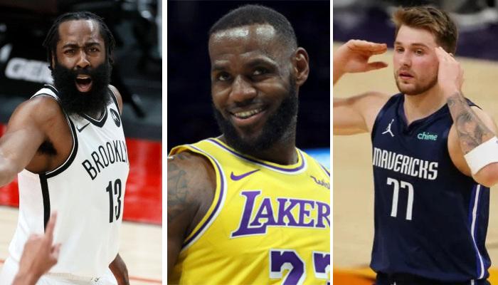 NBA LeBron bat Luka, Harden et Booker à trois points