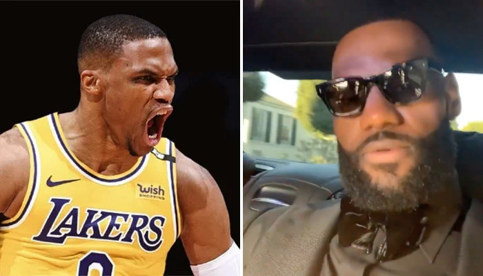 NBA Russ et le King au mariafe d'AD