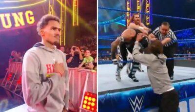 NBA – Trae Young agresse Rey Mysterio et se prend une énorme bronca !