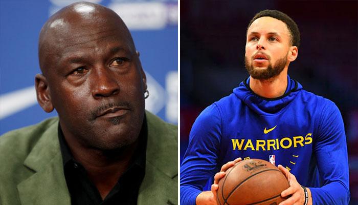 Michael Jordan et Steph Curry NBA