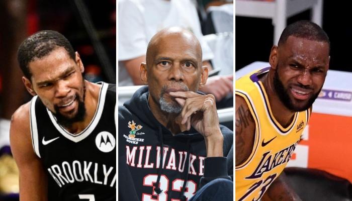 Les superstars NBA Kevin Durant (Brooklyn Nets) et LeBron James (Los Angeles Lakers) confuses suite à la dernière publication Instagram sous forme de meme de Kareem Abdul-Jabbar les concernant