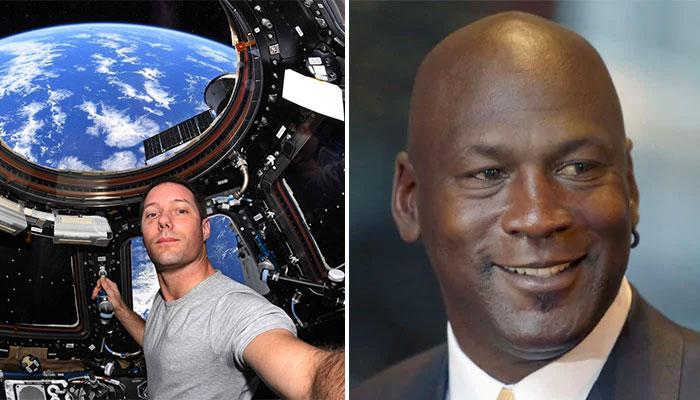 Le clin d'oeil de Thomas Pesquet à Michael Jordan... depuis l'espace