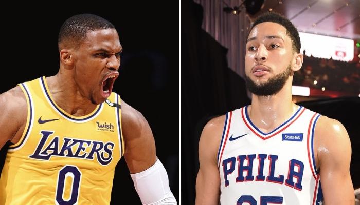 La nouvelle star NBA des Los Angeles Lakers, Russell Westbrook, a fait l'objet d'une grosse humiliation vis-à-vis du meneur des Philadelphia 76ers, Ben Simmons, dans le classement des 100 meilleurs joueurs de la ligue réalisé par ESPN