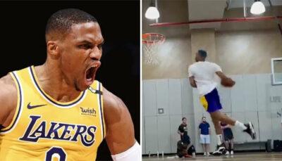 NBA – Prêt pour la saison, Russell Westbrook lâche un violent dunk à l'entraînement !