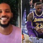 NBA – Un ancien tacle Cleveland, Melo mort de rire !