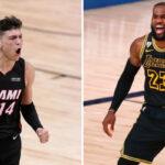 NBA – En feu, Tyler Herro claque une performance plus vue depuis LeBron James il y a 10 ans !