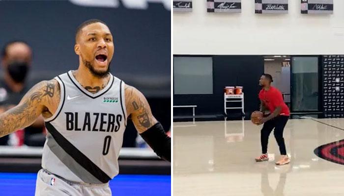 La séquence totalement folle de Damian Lillard à l'entraînement ! NBA
