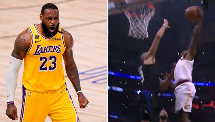 Nicolas Batum se mange un vilain poster, LeBron réagit ! NBA