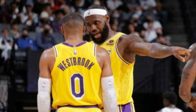 LeBron James et Russell Westbrook