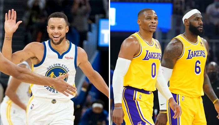 Steph Curry atomizes the Lakers for the LeBron / Russ premiere!