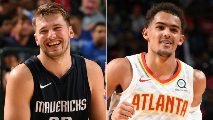 Luka Doncic et Trae Young sourient