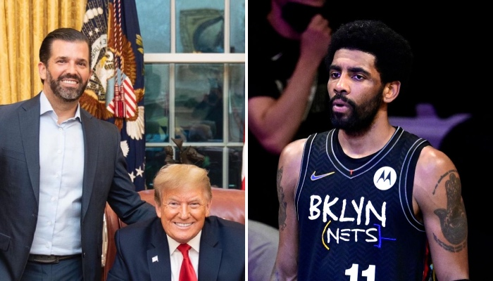 Trump's son causes a stir within the Kyrie case!