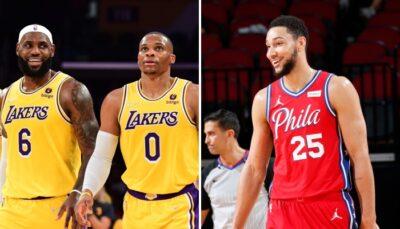 Le jour où la superstar NBA des Los Angeles Lakers, LeBron James, a réussi à boucler un trade pour recevoir le meneur des Philadelphia 76ers, Ben Simmons, en échange de son coéquipier actuel, Russell Westbrook