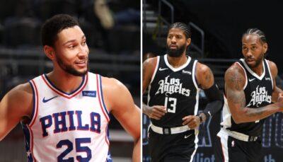 La star NBA des Philadelphia 76ers, Ben Simmons, pourrait faire équipe avec Paul George et Kawhi Leonard aux Los Angeles Clippers, via un échange à 5 joueur