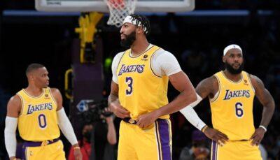 Les superstars NBA des Los Angeles Lakers, Russell Westbrook, Anthony Davis et LeBron James, pourraient avoir à déplorer pas moins de 5 absents dans leur équipe pour le premier match de la saison