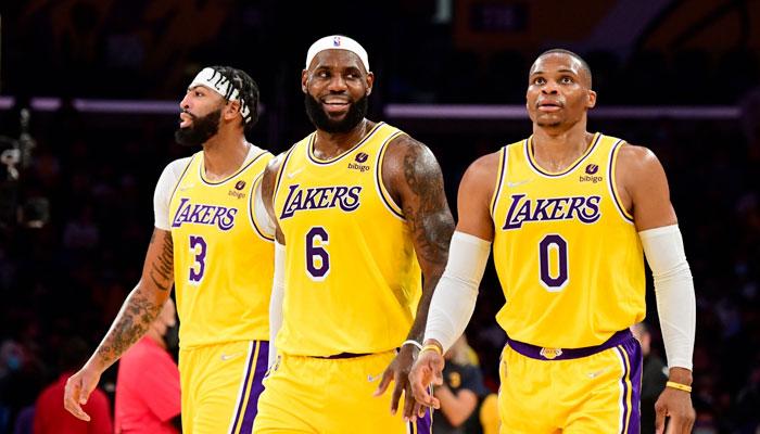 Russell Westbrook, LeBron James et Anthony Davis pour leur premier match ensemble NBA